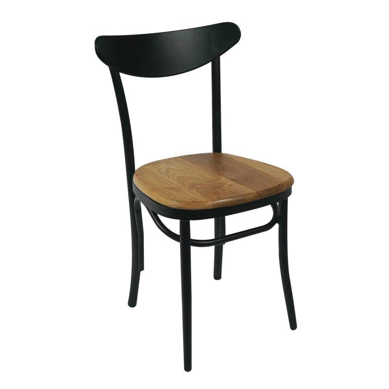 leisure restaurant Metal high back industrial wooden seat cafe chair GA1301C
