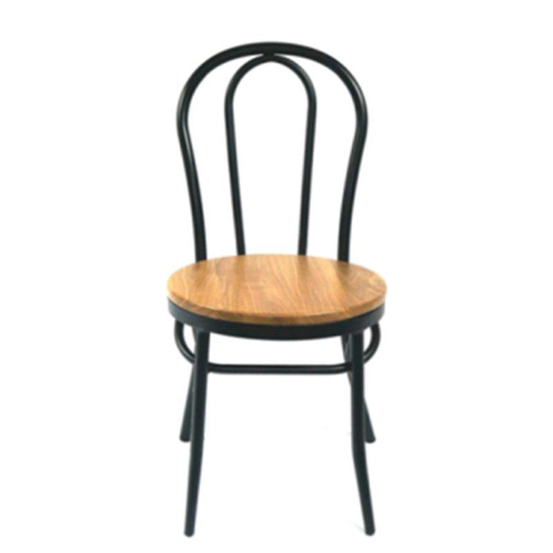 Cafe Steel Chair with Ash Wood Seat GA901C-45STW