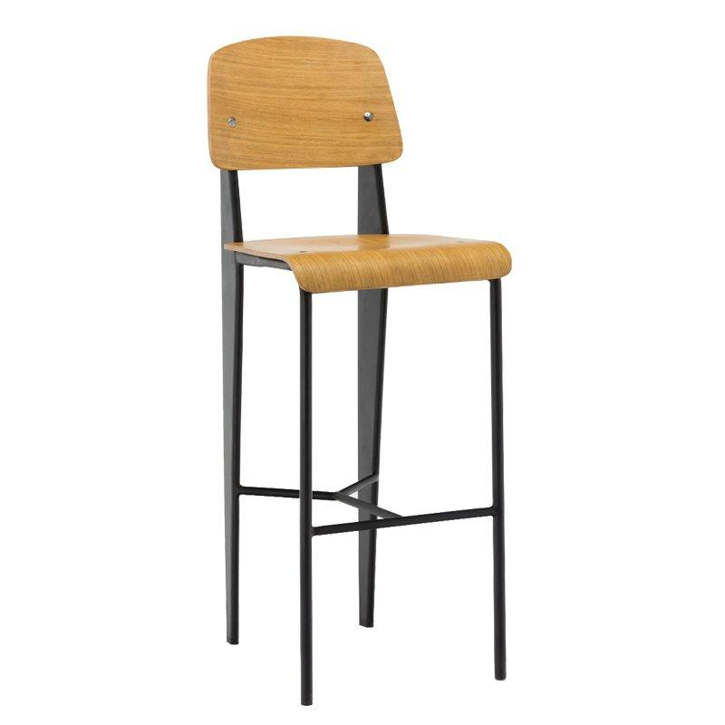 Factory supply industrial Navi high barstools with backrest GA1701C-75STW