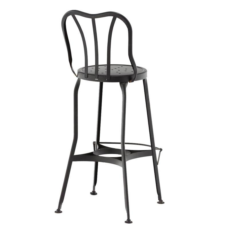 Chinese style antique steel frame with wooden seat dining chair China supplier GA404C-65ST
