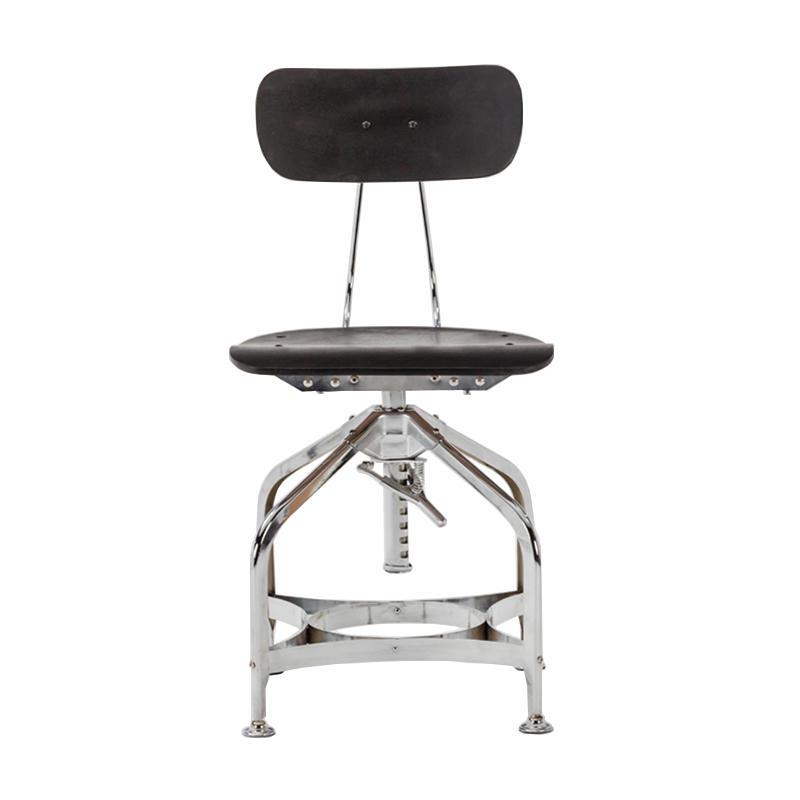 Hot sale short back swivel metal counter dining kitchen bar stool GA402C