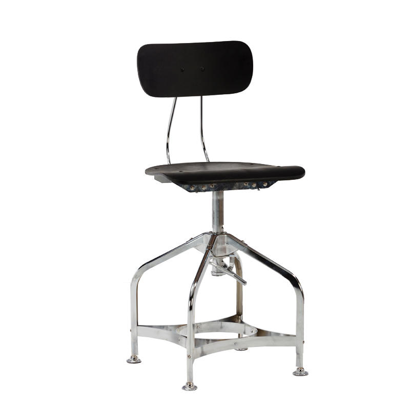 china supplier bar furniture metal frame height adjustable chair swivel industrial chair GA402C