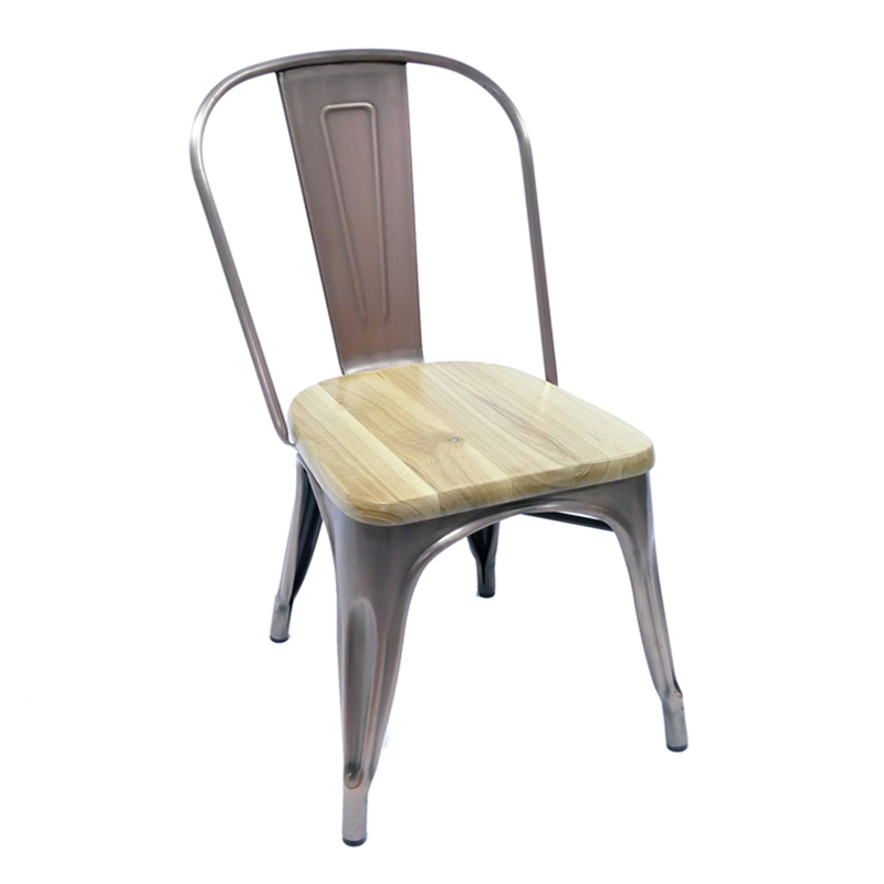 Gold Apple Wood Metal Cafe Chair  Restaurant Chairs for Sale GA101C Stacking Chairs image21