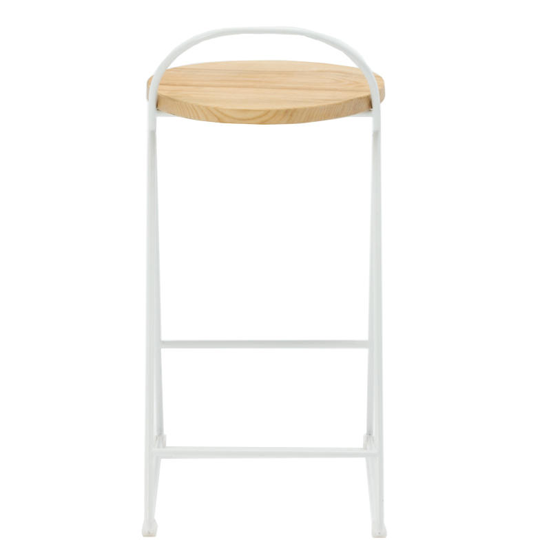 Industry style simple design metal base stool with black wire frame for living room GA3703C-65STW