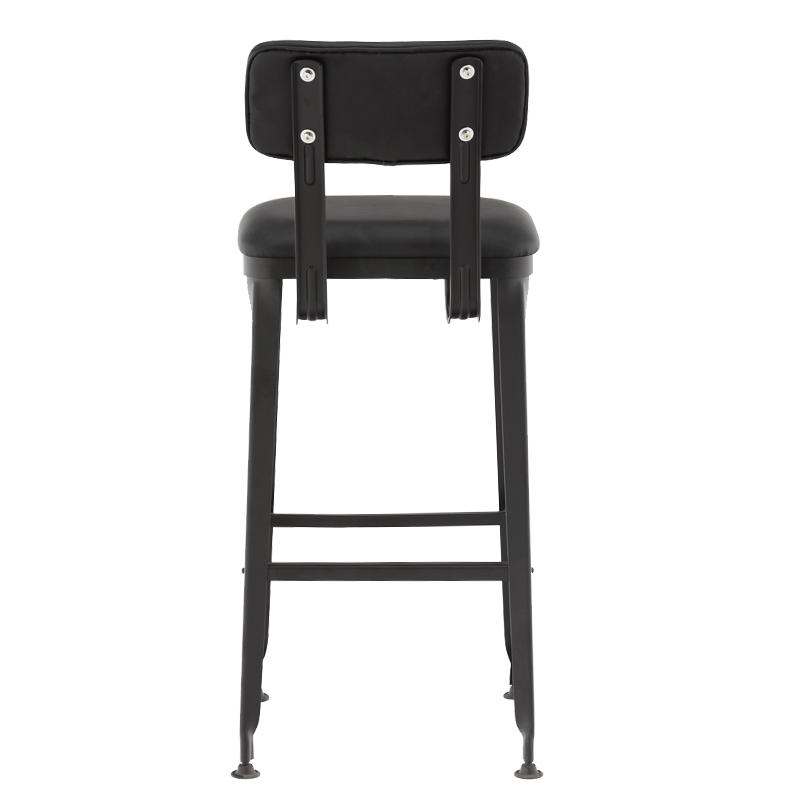 Upholstered Bar Height Leather Stool GA501C