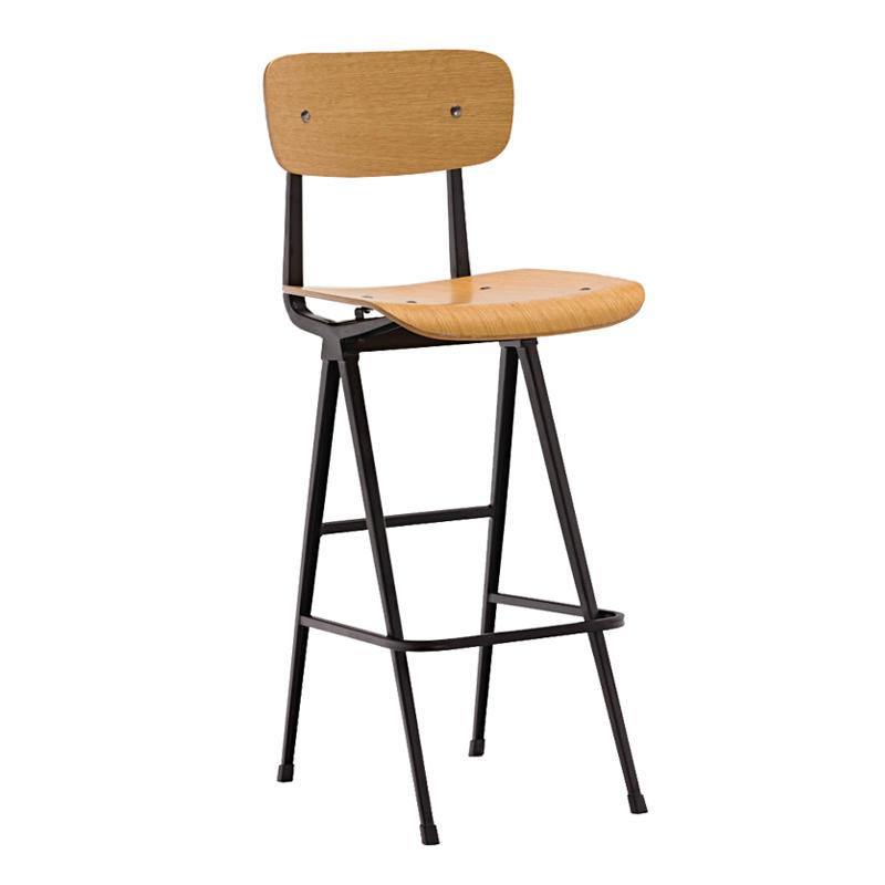 Factory Price Antique Kitchen Bar Chair Plywood Bar Stool GA2901C-75STW