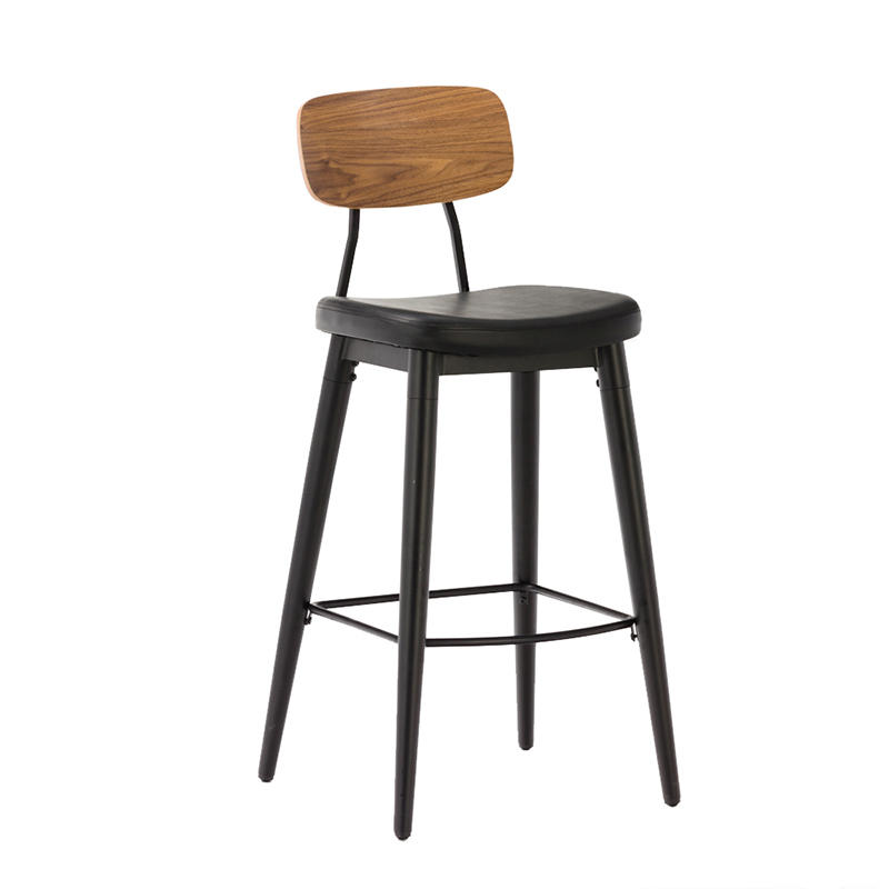 Casual Cafe Restaurant Metal Stool Industrial Stool GA2001C-75STP