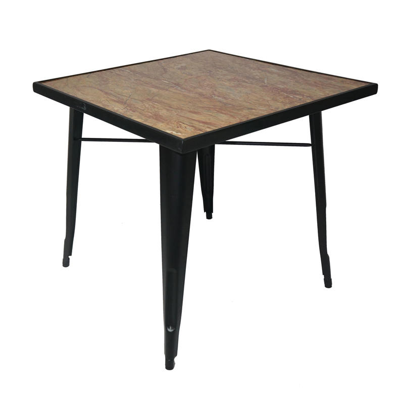 Industrial Tile Top Dining Table With Metal Base GA101T