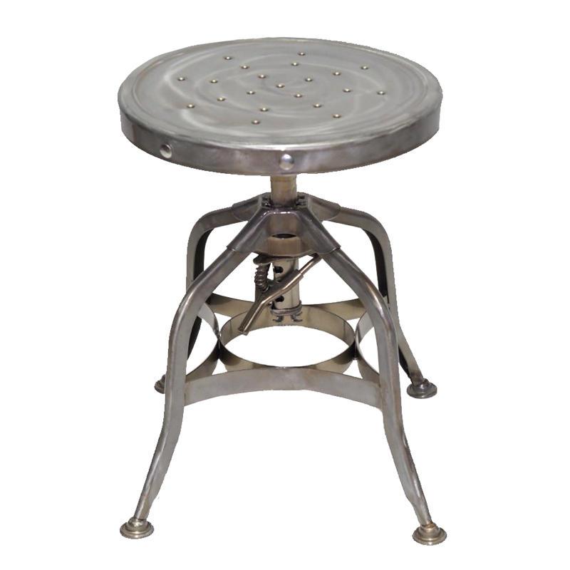High quality powder coated black metal antique bar stool GA401C-45ST