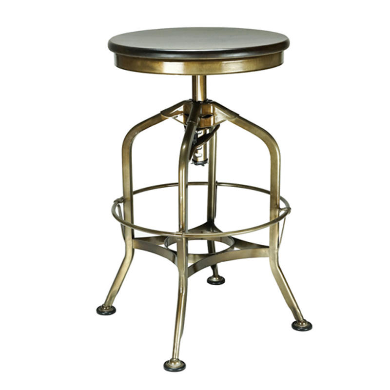 Bar Stools Modern Wood Metal Bar Stool Industrial Cast Iron Bar Stool Base GA401C-65STW
