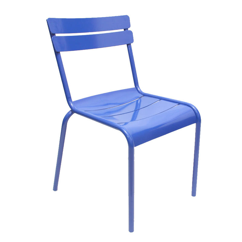 Wholesale price modern metal shelf stack back outdoor restaurant dining chair without armrest GA801C-45ST