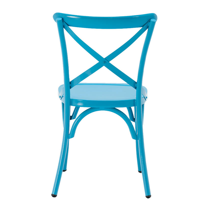 Outdoor Restaurant Furniture Stacking Cross Back Chair GA1101C-45ST