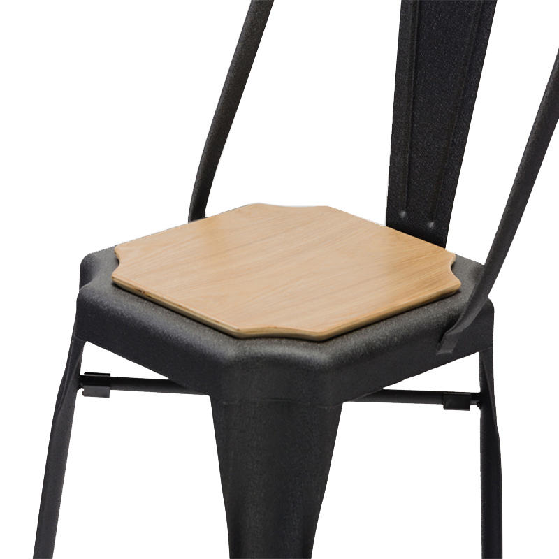 Steel and Wood Dining Chairs Industrial Cafe Chairs GA2101C-45STW