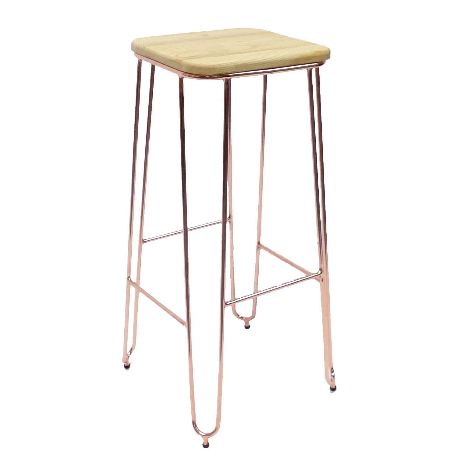 High Solid Wood Bar Stool GA203C-75STW