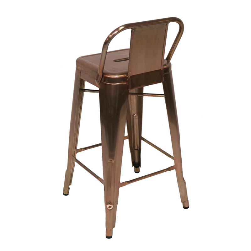 Outdoor Industrial High Stools With Low Back GA201BC-75ST