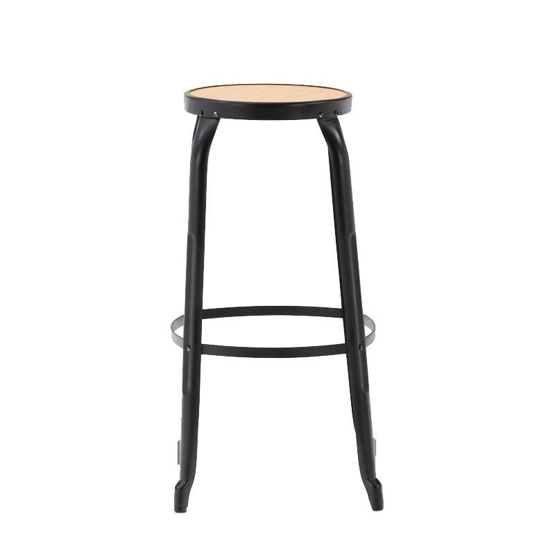 USA industrial wooden seat metal cafe high stackable bar stool GA301C-75STPW