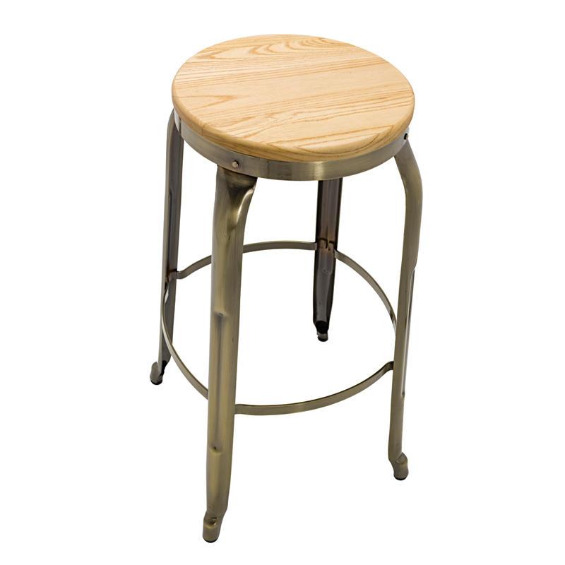 Customized all kinds of bar metal stool bar wood stool bar iron stool GA301C