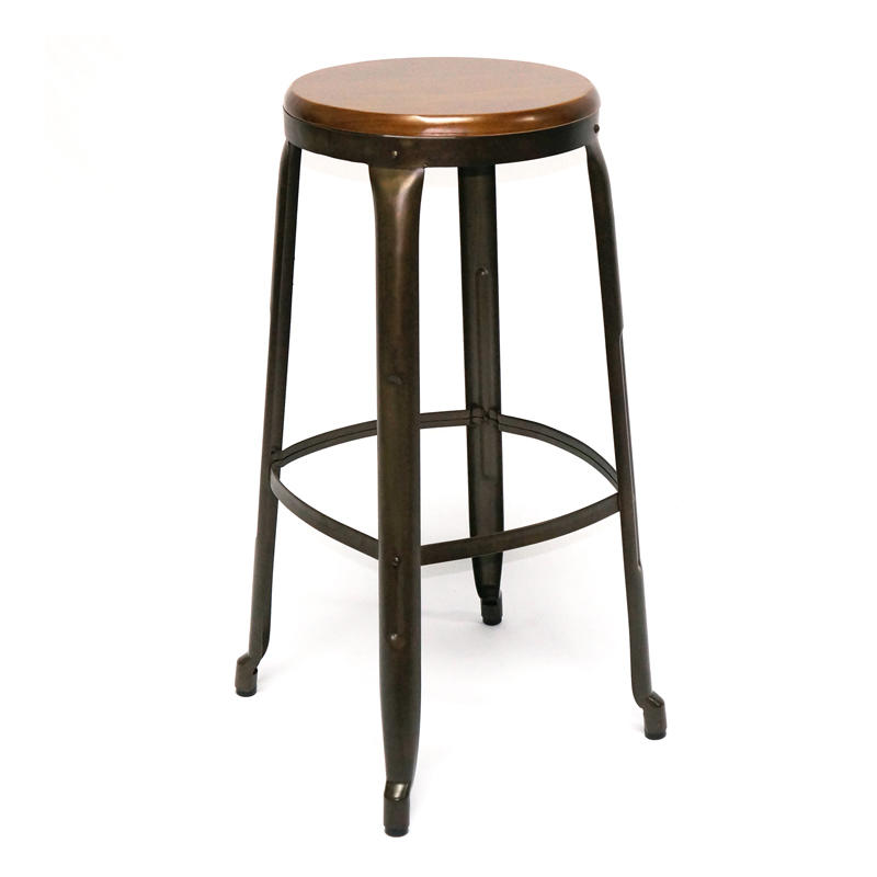 Wood and Metal Bar Stools GA301C-75STW