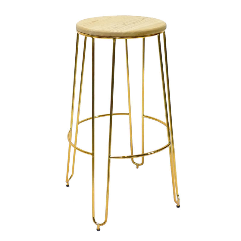 Metal Wood High Stool GA302C-75STW