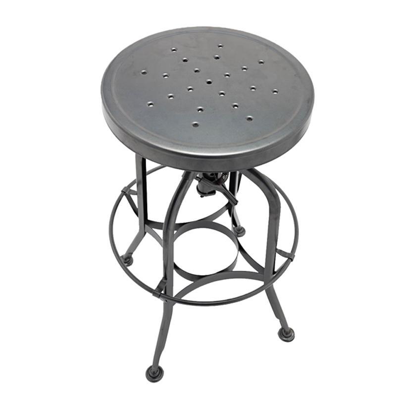 Toledo Industrial Adjustable Barstool/Vintage stool/New Gunmetal Barstool GA401C