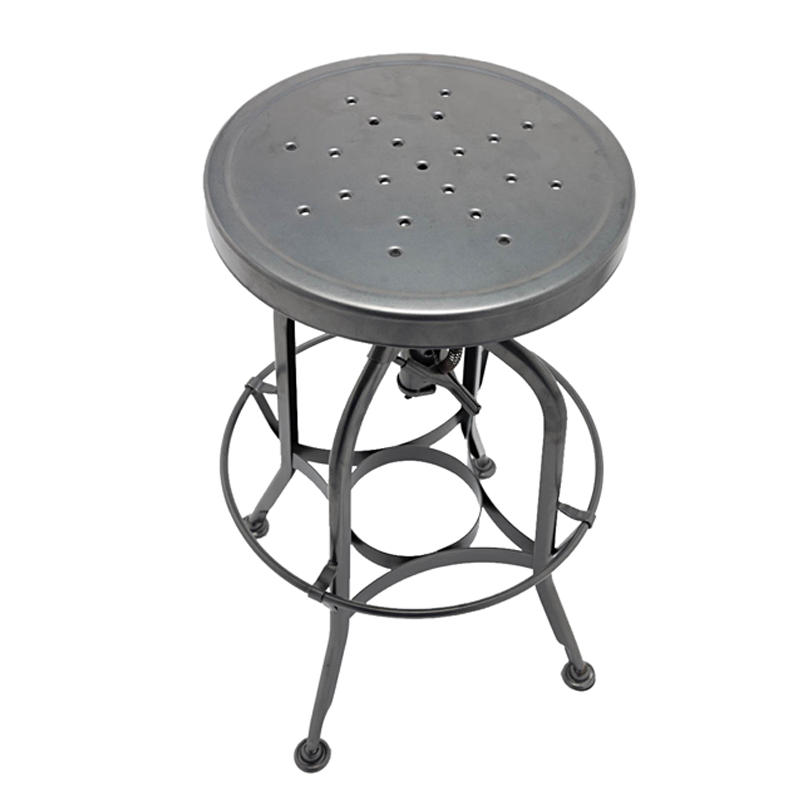 Vintage Industrial Stool Steel Bar Kitchen Swivel Chair GA401C-65ST