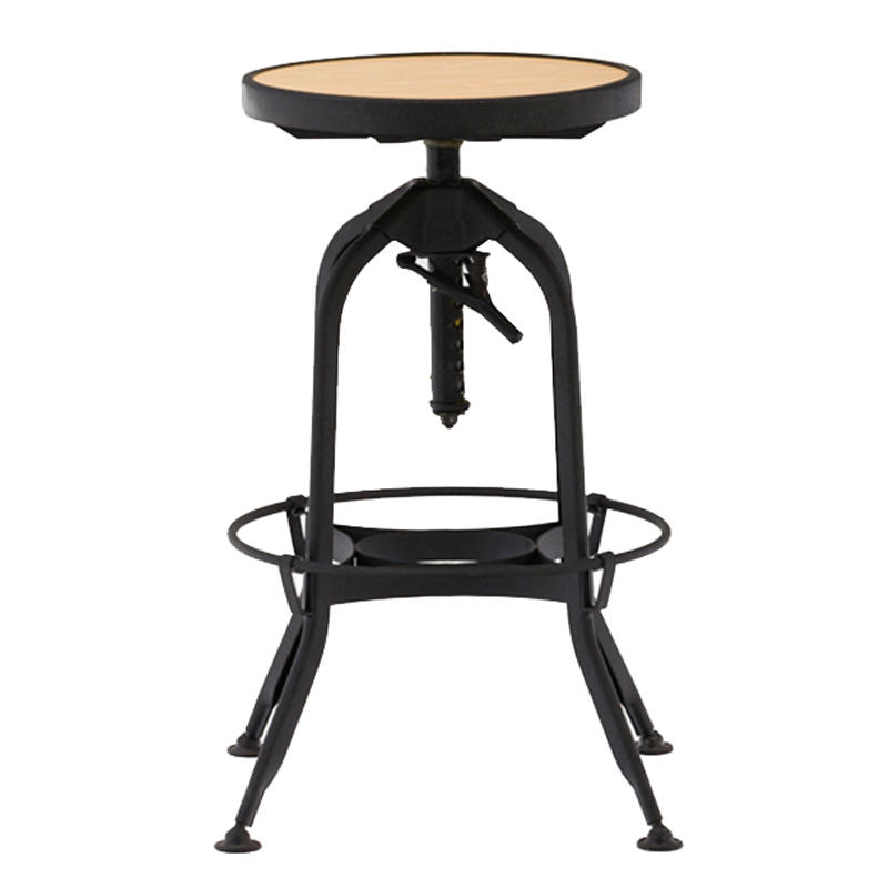 commercial furniture outdoor steel wooden vintage industrial stool metal bar chair plywood bar stool GA401C-65STPW