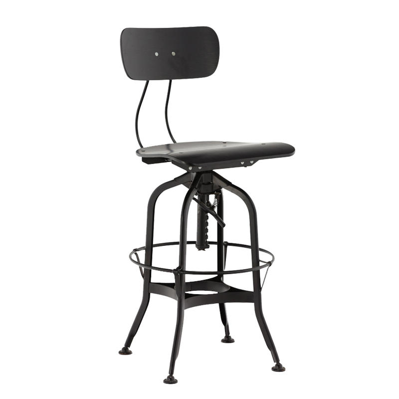Wholesale high chair antique vintage industrial metal bar chair bar stool GA402C-65STW