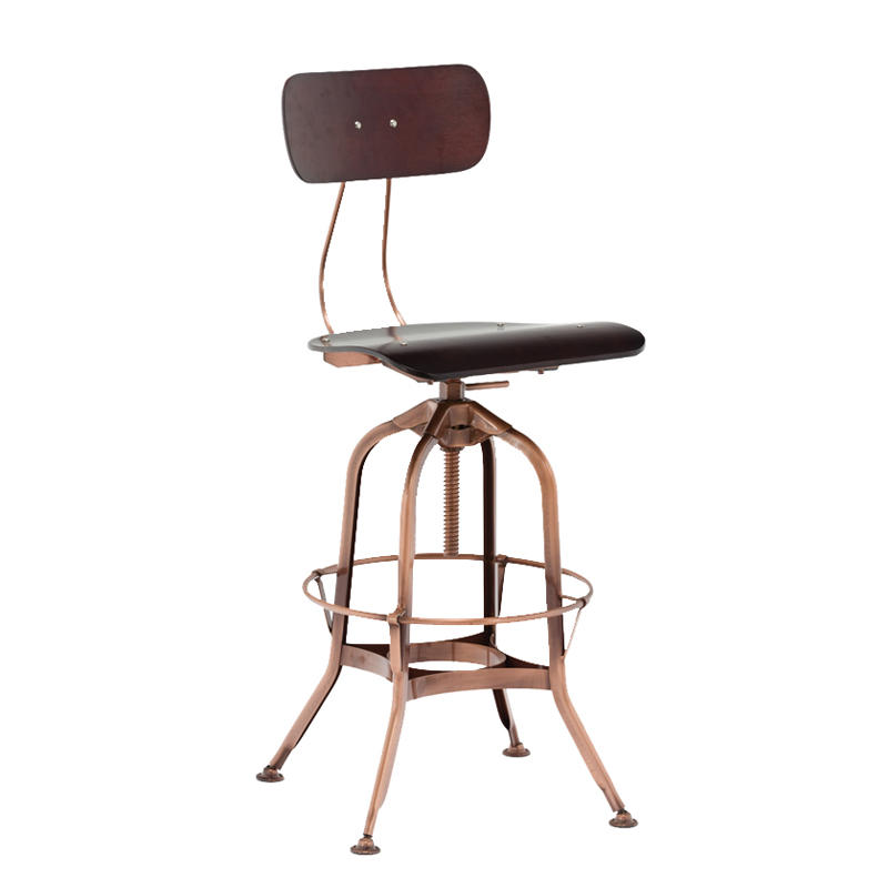 Factory Directly Adjustable Vintage Industrial Bar Metal Stool GA403BC-65STP