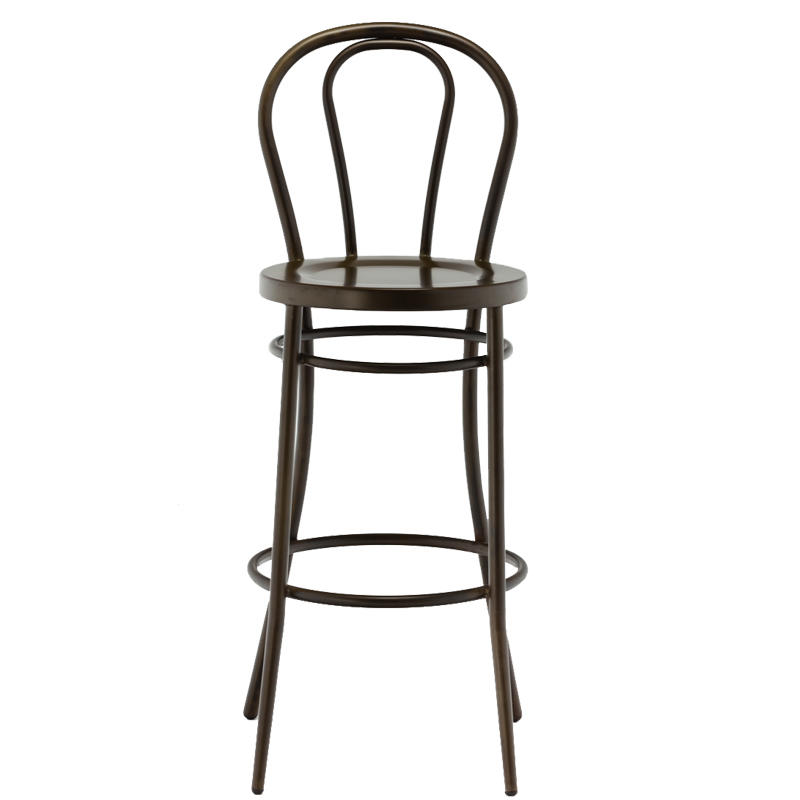 Outdoor high-end steel bar chair bar stool with footrest for sale GA901C-75ST