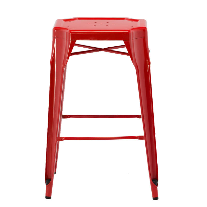 french style promotional wholesale stackable restaurant dining metal bar stool GA2101BC-70ST