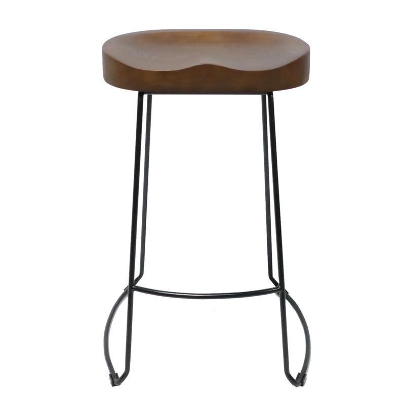 New Modern Wooden Seat Metal Wire Bar Stools GA3701C-65STW