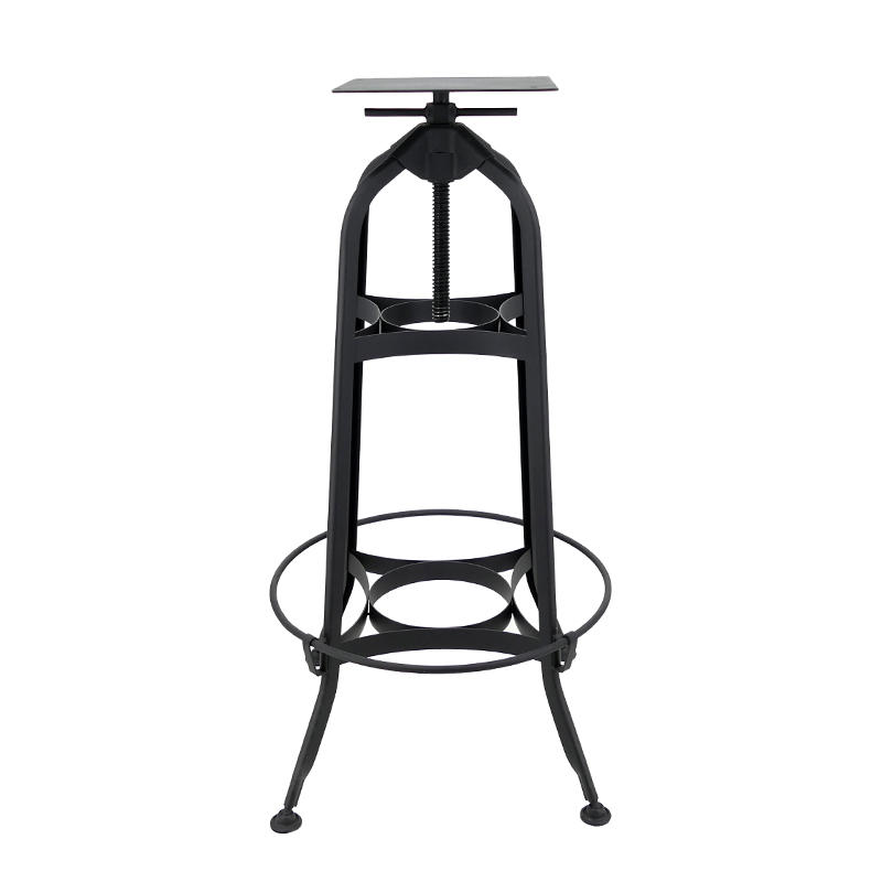 Industrial Toledo Style Adjustable Height Swivel Metal Bar Table GA401BT
