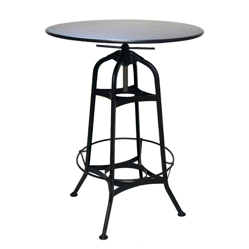 Industrial Toledo Style Adjustable Height Swivel Metal Bar Table GA401BT