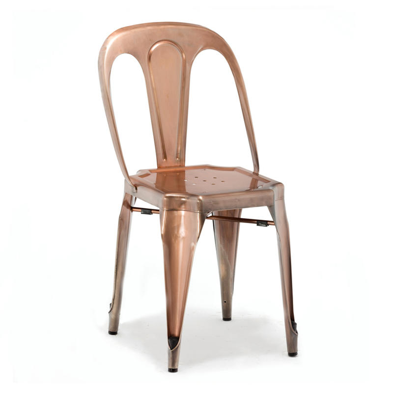 wholesale dining vintage high industrial rose gold metal bar stool GA2101C