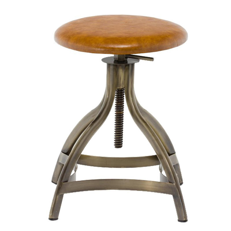 Swivel round seat bar counter height adjustable metal cheap kitchen bar stools supplier for sale GA606C-45STP