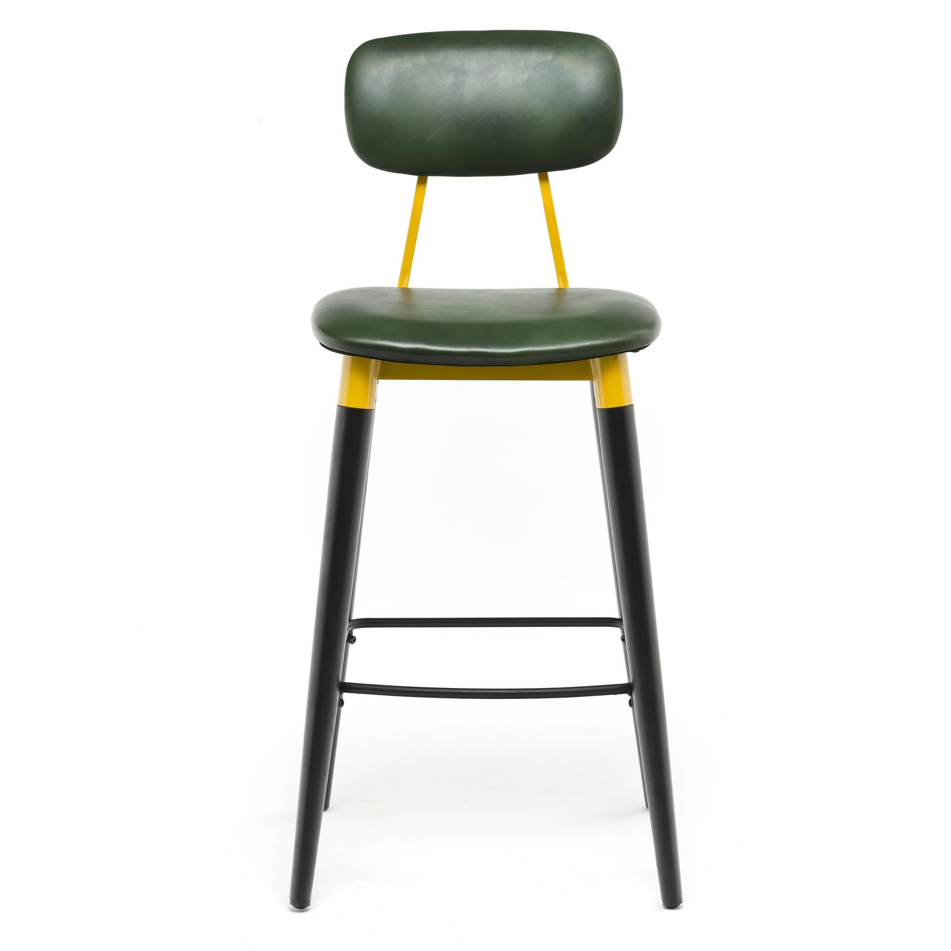 Leather Bar Stool With Backrest GA2002C