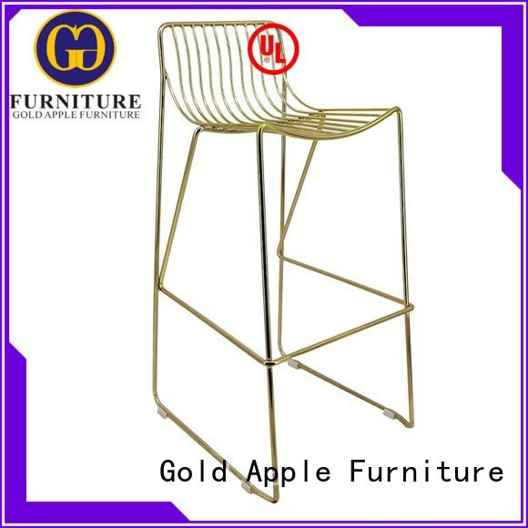 Gold Apple commercial outdoor metal bar stools low back for bar