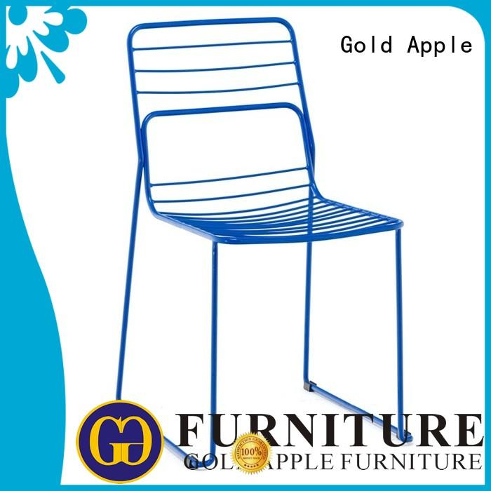 Gold Apple metal wire outdoor chairs for sale modern on-sale