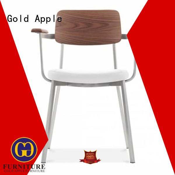 Gold Apple dining chair leather and metal chair armchair