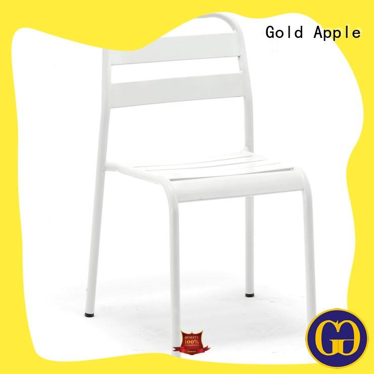 Gold Apple comfortable metal chairs for sale rose gold without armrest