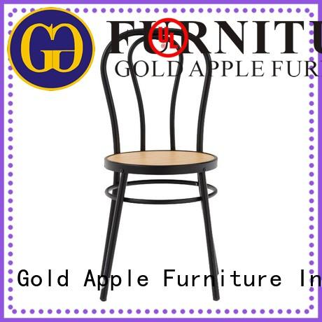 modern metal base dining chairs rose gold without armrest