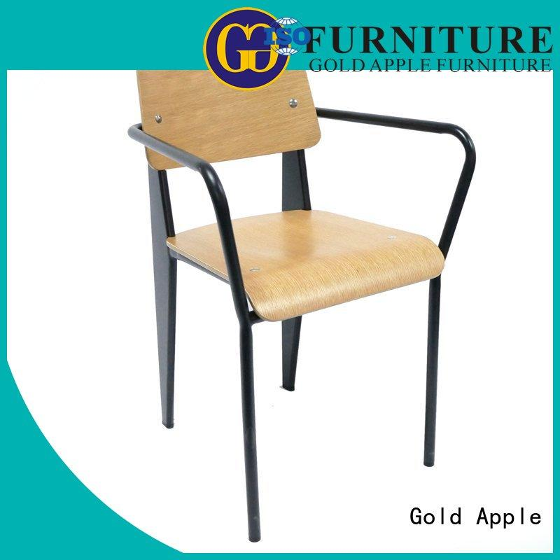 Gold Apple dining wooden chair manufacturers solid coffee shop