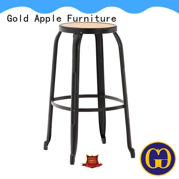 Gold Apple low-price dark wood bar stools elegant with backrest