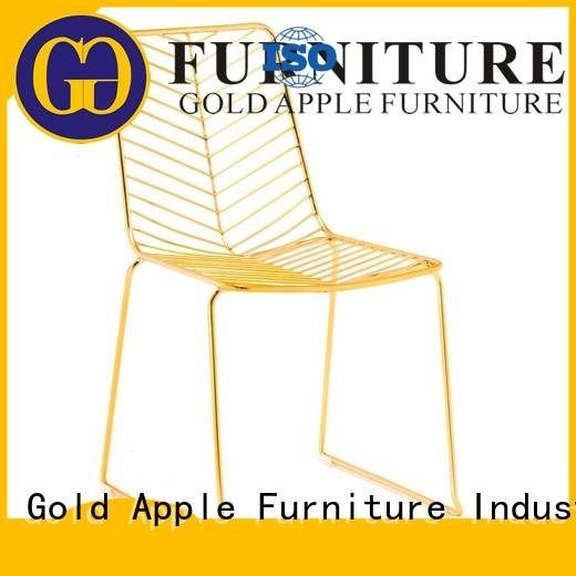 modern stacking chairs simple coffee shop Gold Apple