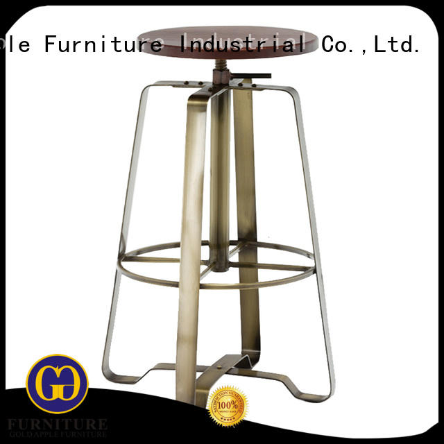 Gold Apple low-price 24 inch wooden bar stools elegant with backrest