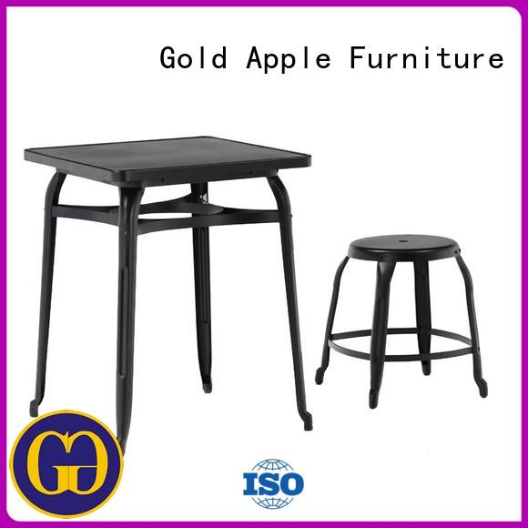 Gold Apple industrial patio table and chairs set adjustable height powder coating