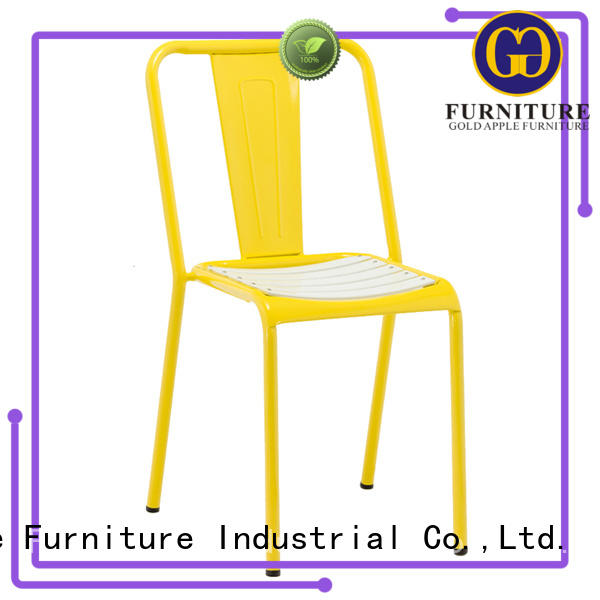 Gold Apple antique foldable outdoor chairs steel coffee chairs