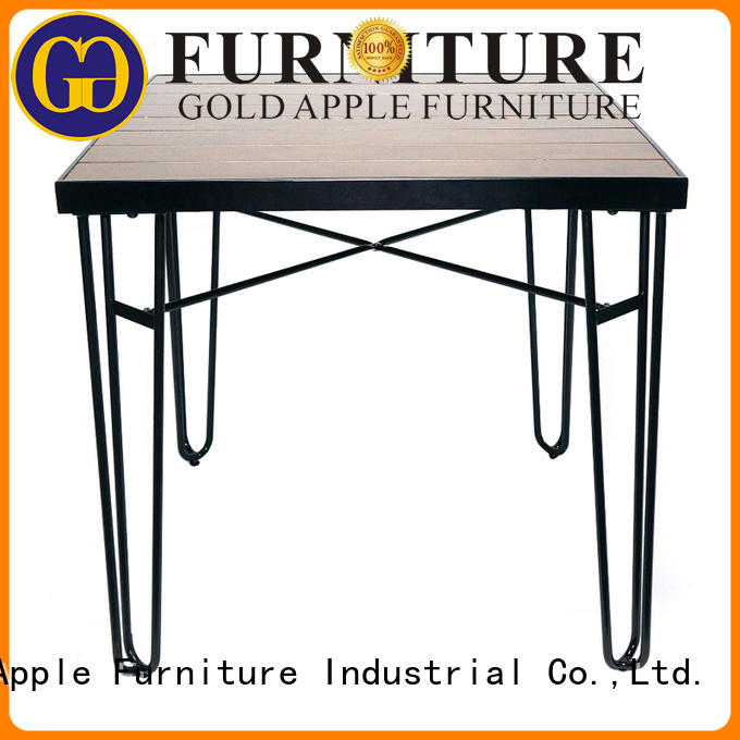 Gold Apple luxury round table dining table for restaurant