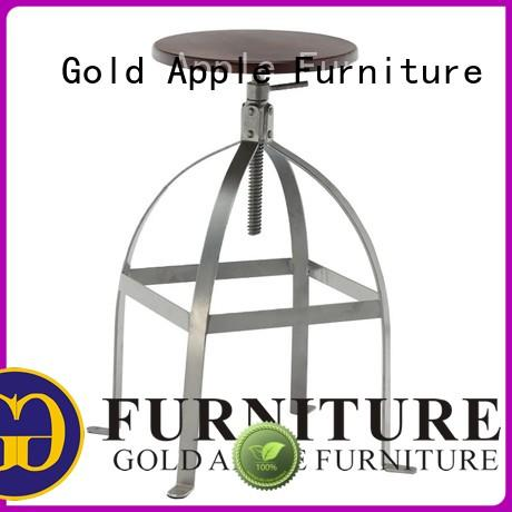 Gold Apple commercial metal counter stools with backs rose gold with armrest