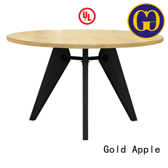 chic design large round wood dining table comfortable for restaurant